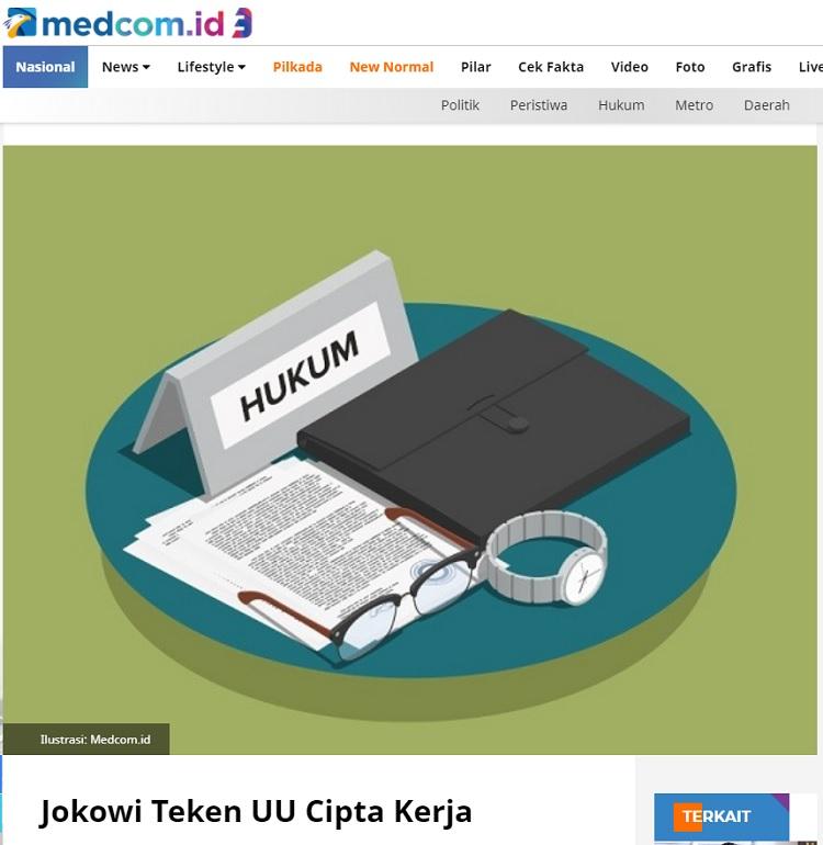[Cek Fakta] Jokowi dan Moeldoko Batalkan UU Cipta Kerja? Ini Faktanya