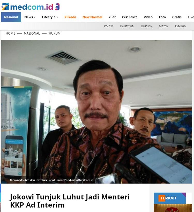 [Cek Fakta] Jokowi Angkat Susi Pudjiastuti Gantikan Edhy Prabowo? Ini Faktanya
