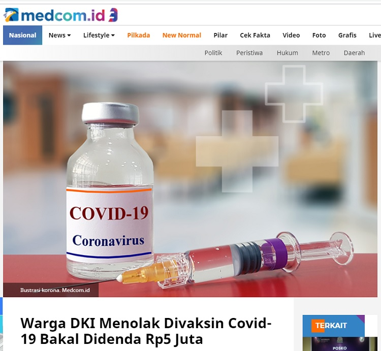 [Cek Fakta] Tolak Vaksin Covid-19, Nomor Rekening dan Ponsel akan Diblokir? Ini Faktanya