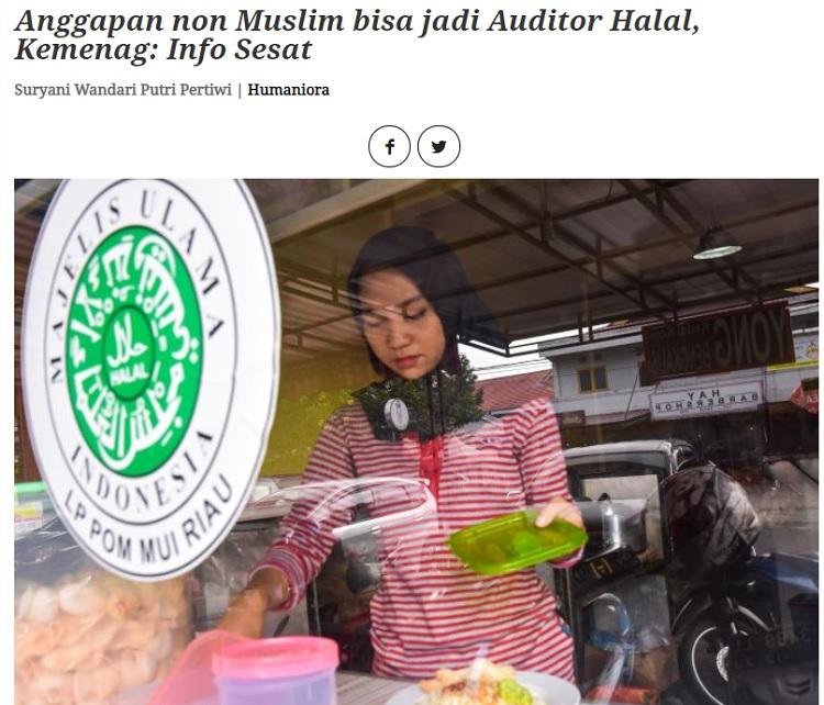 [Cek Fakta] Nonmuslim Bisa Jadi Auditor Produk Halal? Ini Faktanya
