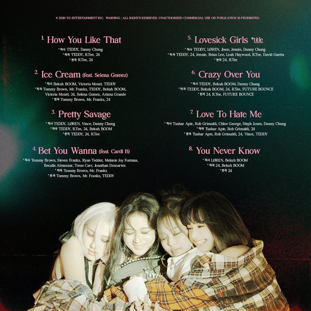 Blackpink Bagikan Daftar Lagu The Album