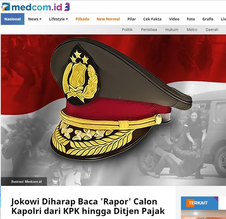 [Cek Fakta] Jokowi Resmi Tunjuk Komjen Sigit Prabowo Jadi Kapolri Baru? Ini Faktanya