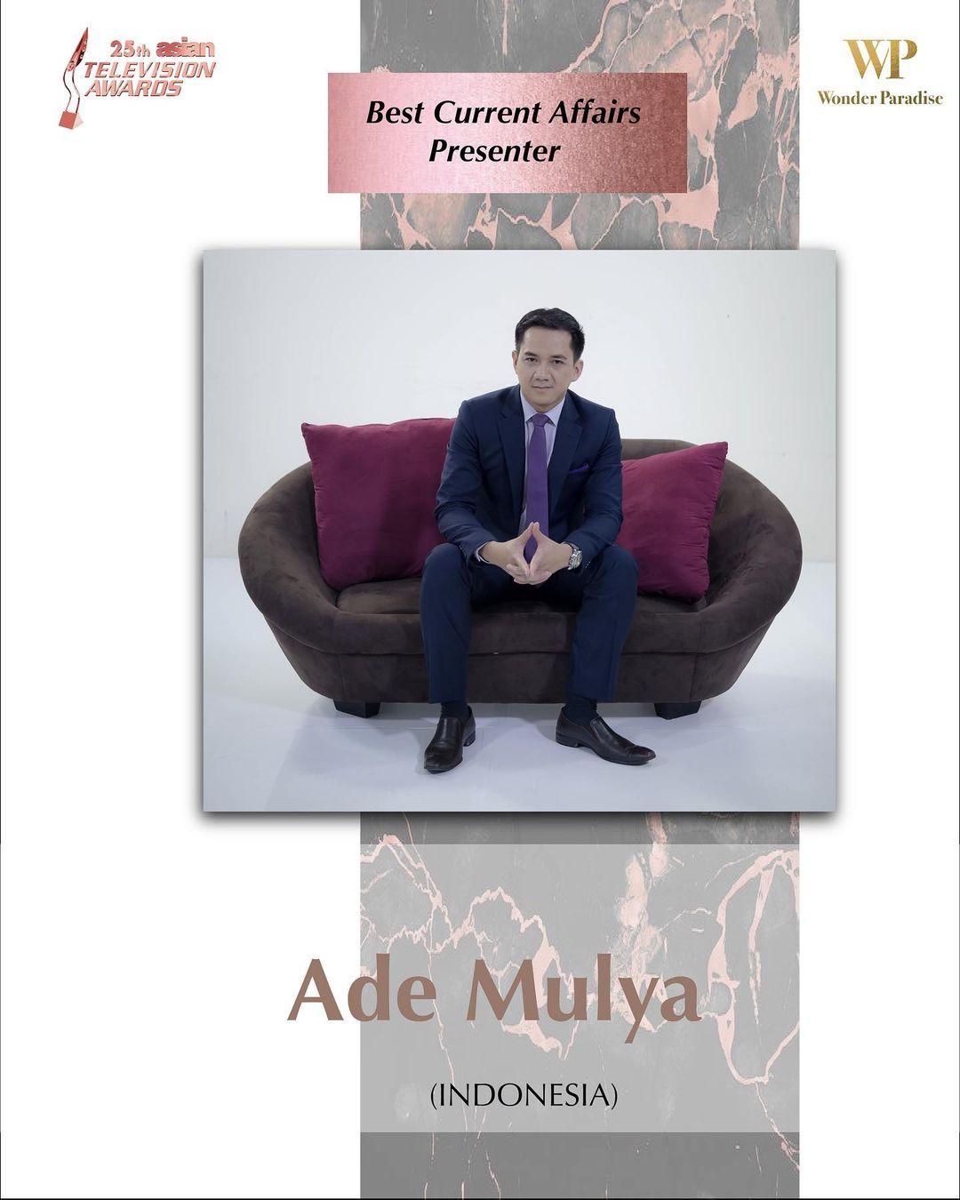 Presenter Metro Tv, Ade Mulya Menang di Asian Television Awards 2021