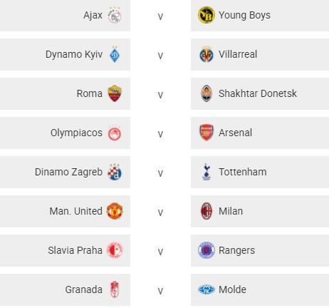 Hasil Undian 16 Besar Liga Europa: Manchester United Ditantang AC Milan