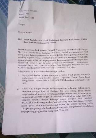 Polda Jabar Kaji Kembali Kasus Dugaan Penjarahan Ruko