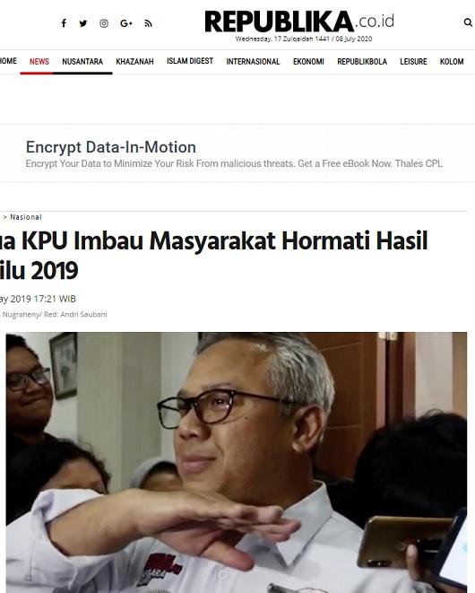 [Cek Fakta] Ketua KPU Minta Masyarakat Hormati Hasil Pemilu Meski Banyak Kecurangan? Ini Faktanya