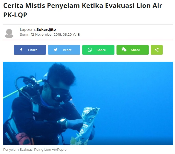 [Cek Fakta] Suara Tangisan di Dasar Laut Lokasi Jatuhnya Pesawat Sriwijaya Air SJ-182? Ini Faktanya