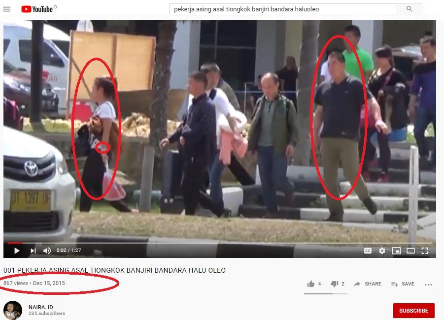 [Cek Fakta] Video Penampakan Setiap Hari 30 TKA Tiongkok Tiba di Bandara Haluoleo? Ini Faktanya