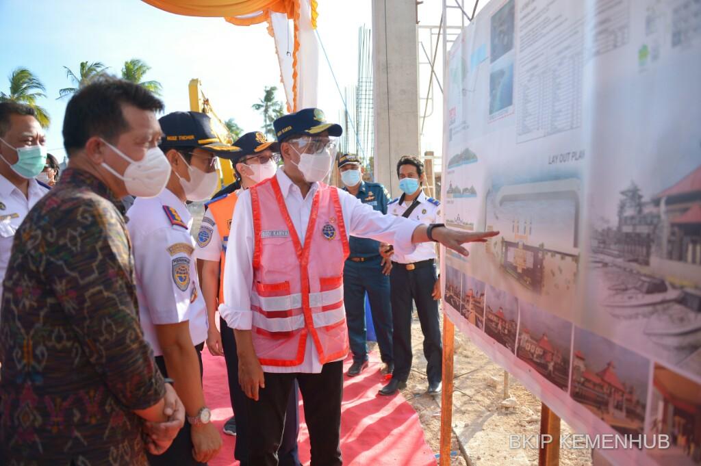 Menhub Targetkan Pelabuhan Penyeberangan Nusa Penida Bali Selesai Awal Tahun 2022