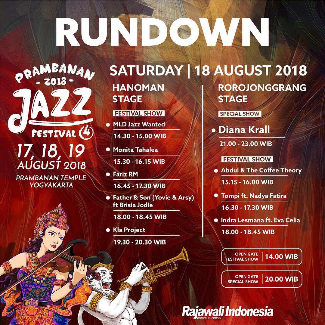 Prambanan Jazz 2018 Hari Ini Hadirkan Indra Lesmana, KLa Project hingga Diana Krall