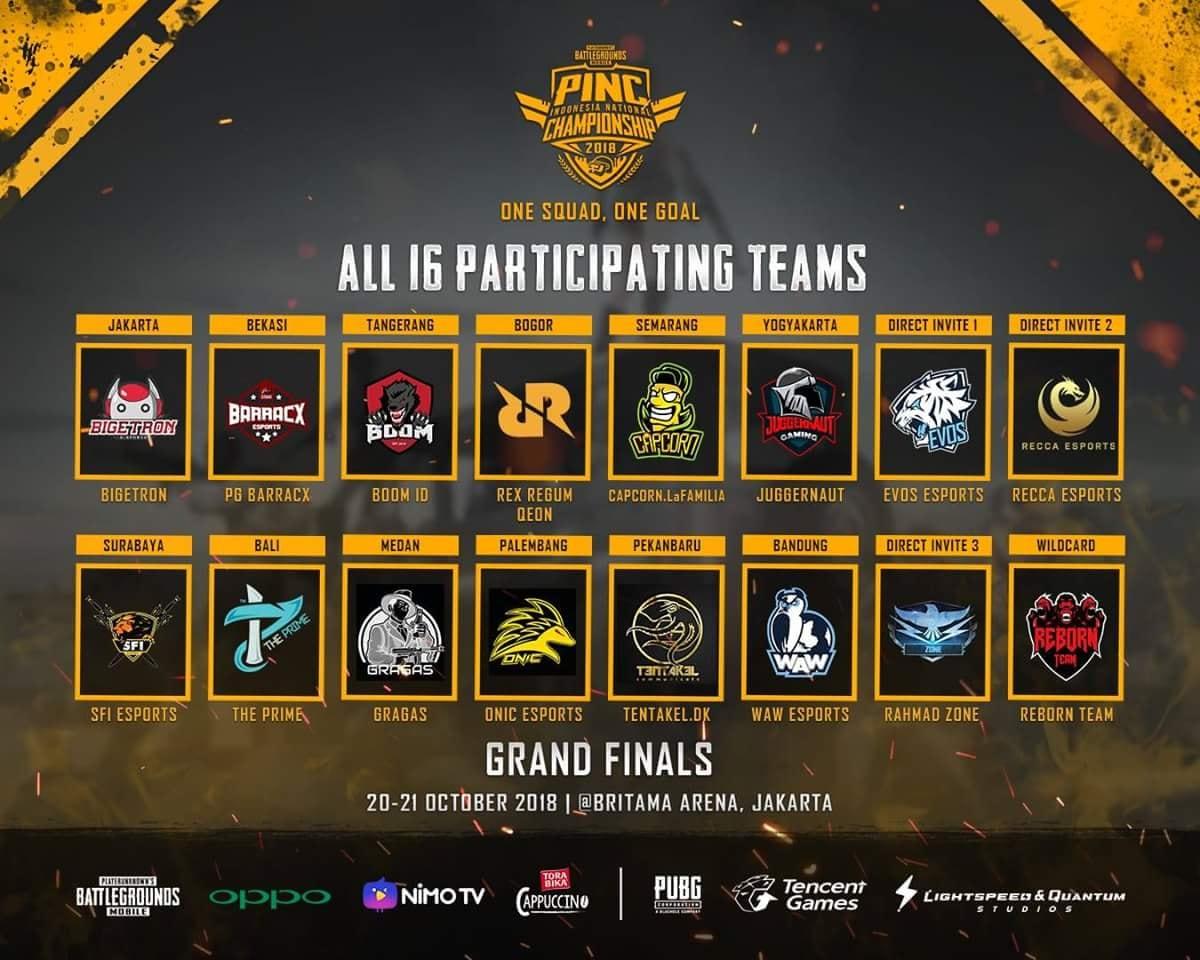 PINC 2018 Menuju Grand Final, Bawa 16 Tim Nasional