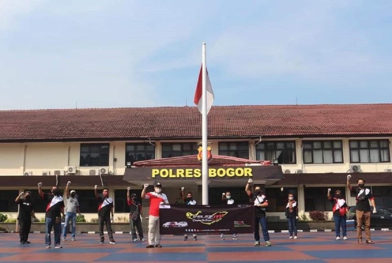 Velozity DeBogorS Tunjukan Dukungan Kepada Kepolisian Bogor