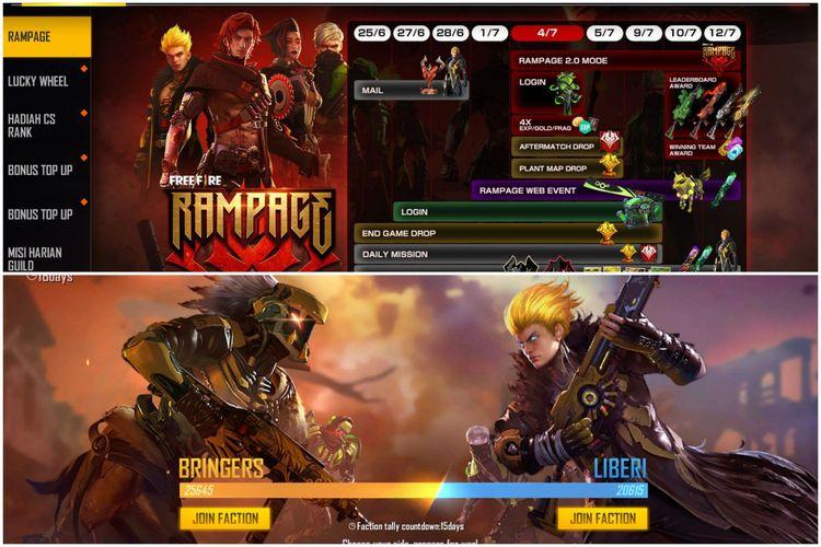 Garena Umumkan Mode Baru Rampage 2.0 untuk Free Fire