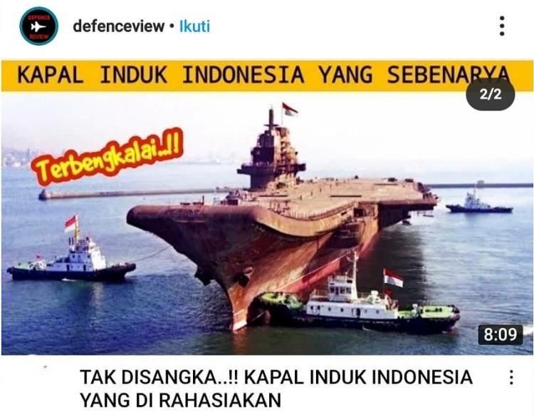 [Cek Fakta] Foto Penampakan Kapal Induk Milik Indonesia yang Dirahasiakan? Ini Faktanya