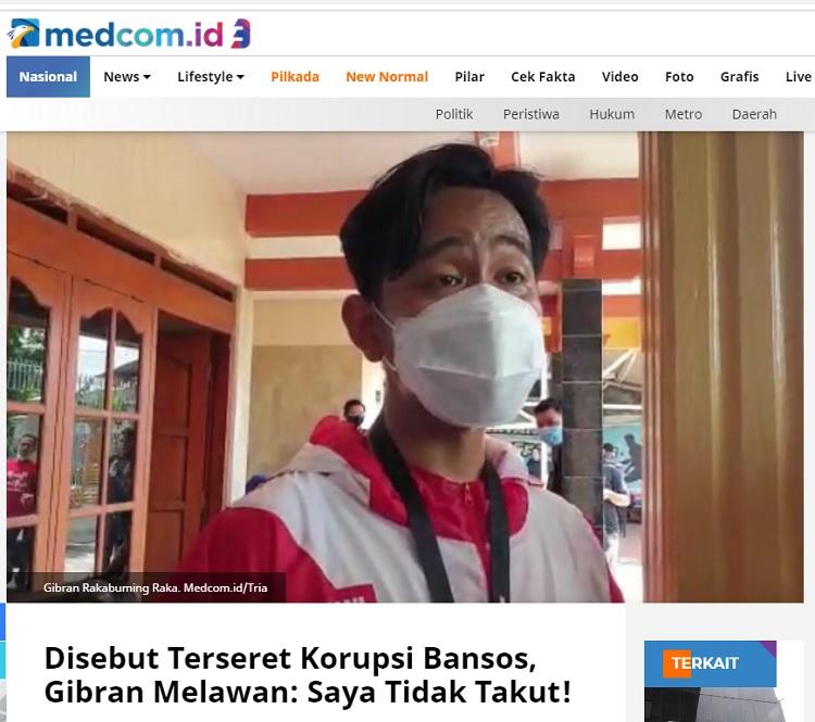 [Cek Fakta] Gibran Dihukum Mati Jokowi Hoaks, Ini Faktanya