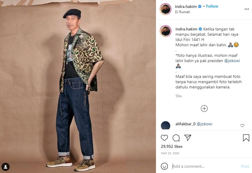 [Cek Fakta] Foto Presiden Jokowi Bergaya Ala Boyband? Ini Faktanya
