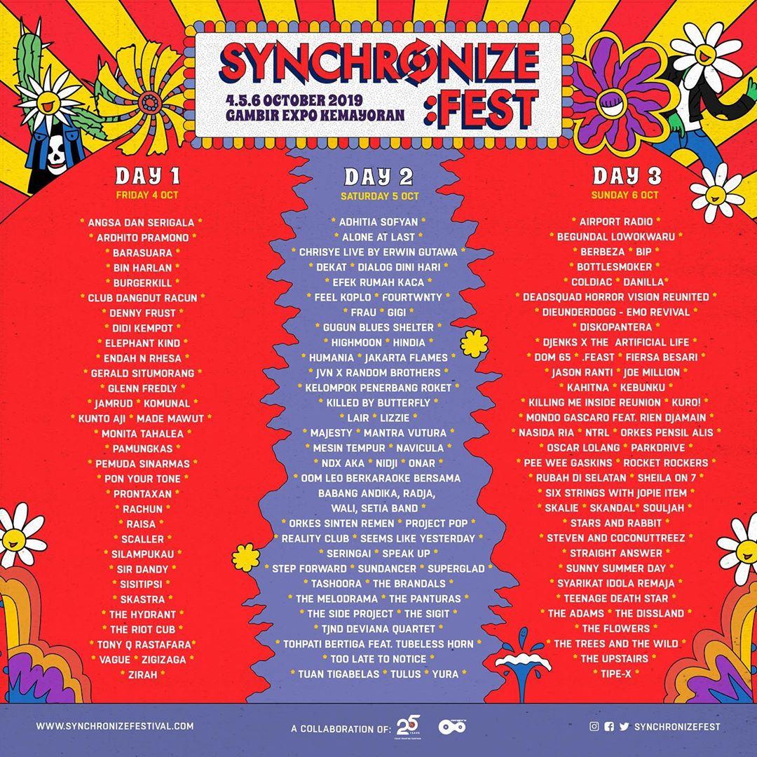 Hasil gambar untuk Synchronize Fest 2019