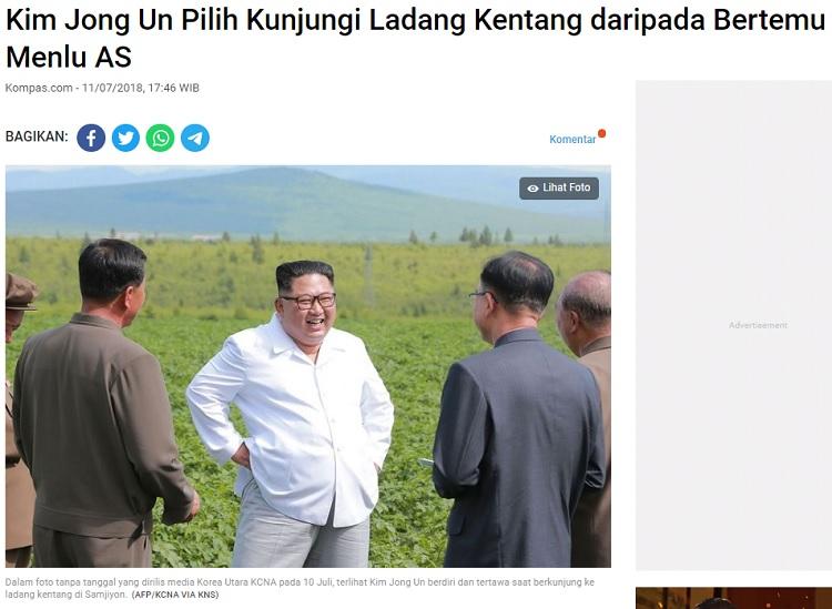 [Cek Fakta] Foto Kim Jong Un Pakai Kaos Kampanye Jokowi? Ini Faktanya