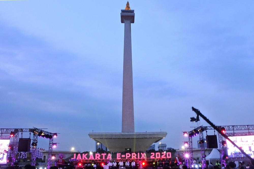 Formula E di Monas Promosikan Ikon Indonesia