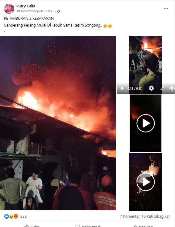 [Cek Fakta] Kebakaran di Petamburan Sinyal Genderang Perang oleh Pemerintah? Ini Faktanya