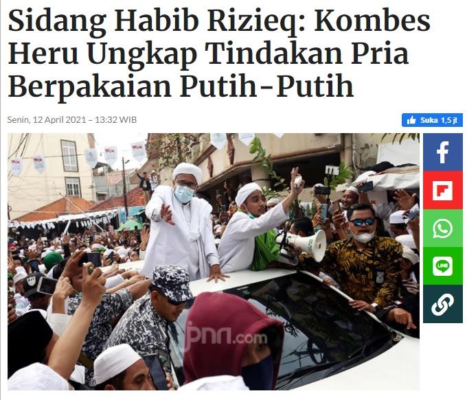 [Cek Fakta] Sosok Putih Bercahaya Muncul di Sidang Habib Rizieq? Ini Faktanya