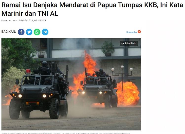 [Cek Fakta] Pasukan Denjaka Dikirim ke Papua Basmi KKB? Ini Faktanya