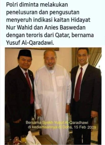 [Cek Fakta] Benarkah Syeikh Yusuf Al Qaradhawi Teroris Asal Qatar? Ini Faktanya