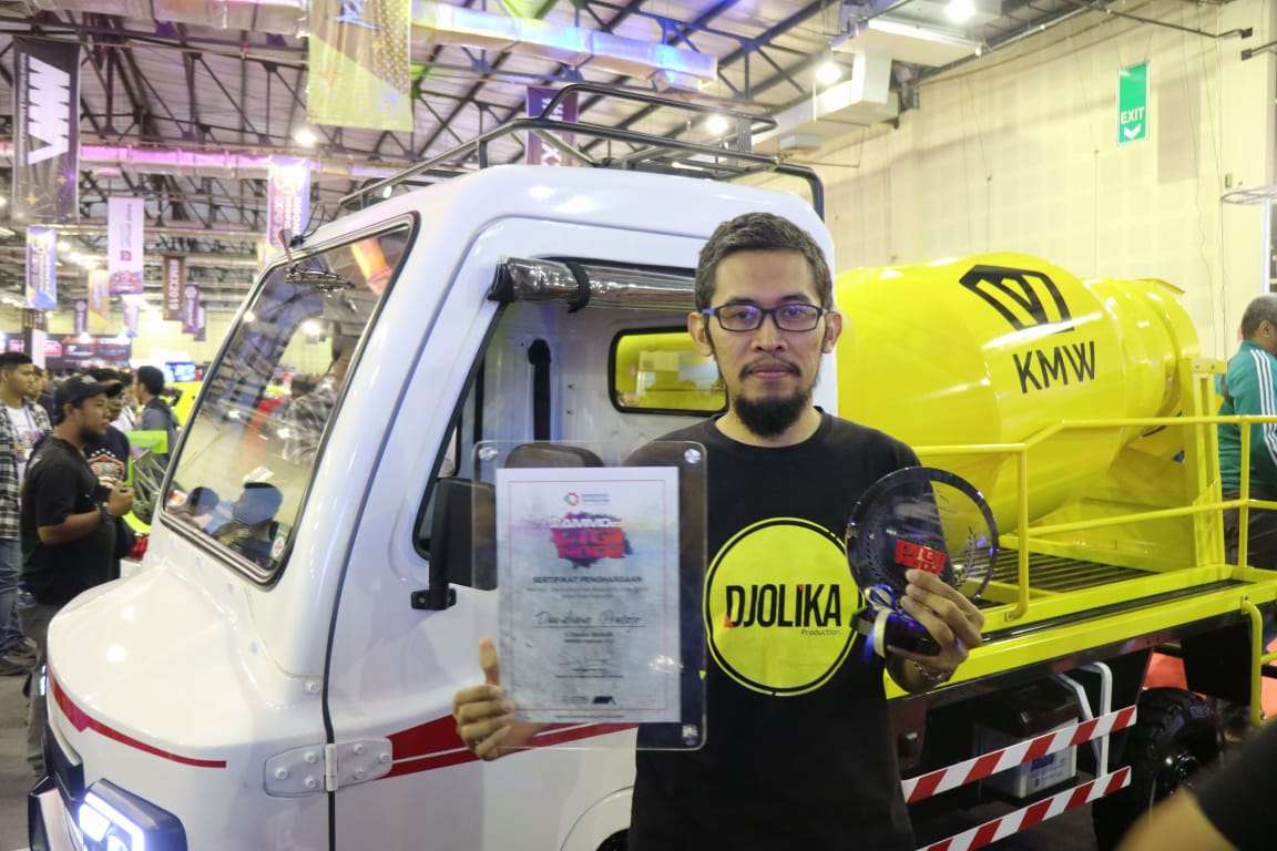 AMMDes Mini Mixer Truck untuk Menunjang Pembangunan Infrastruktur
