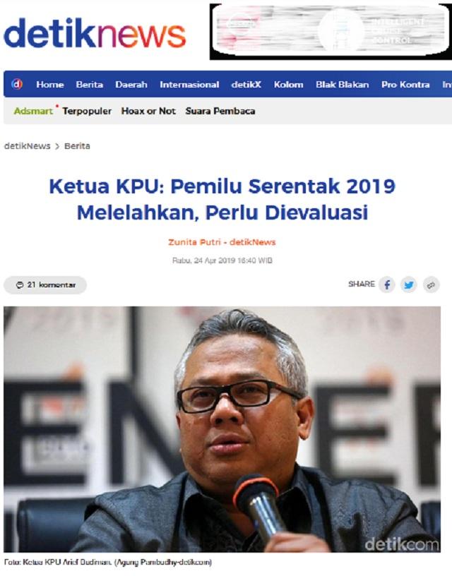 [Cek Fakta] Ketua KPU Arief Budiman Siap Dikutuk Menjadi Batu Jika KPU Curang? Ini Faktanya