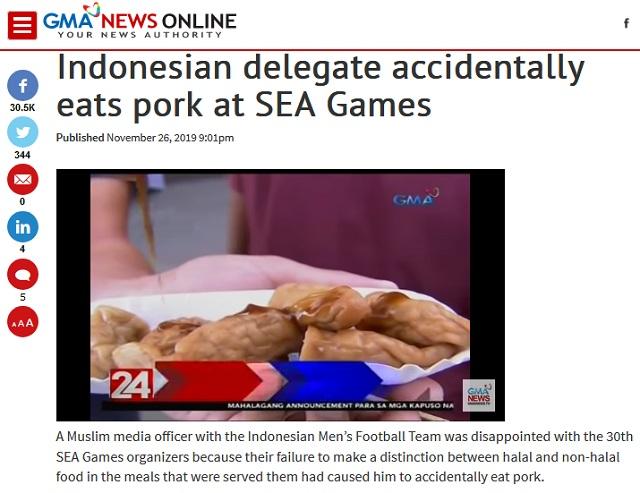 [Cek Fakta] Atlet Muslim Indonesia tak Sengaja Memakan Daging Babi di Sea Games 2019