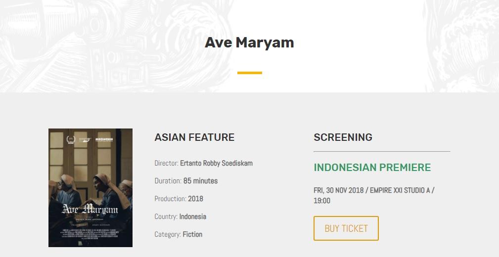 Film Ave Maryam Dipangkas 12 Menit dari Durasi Awal