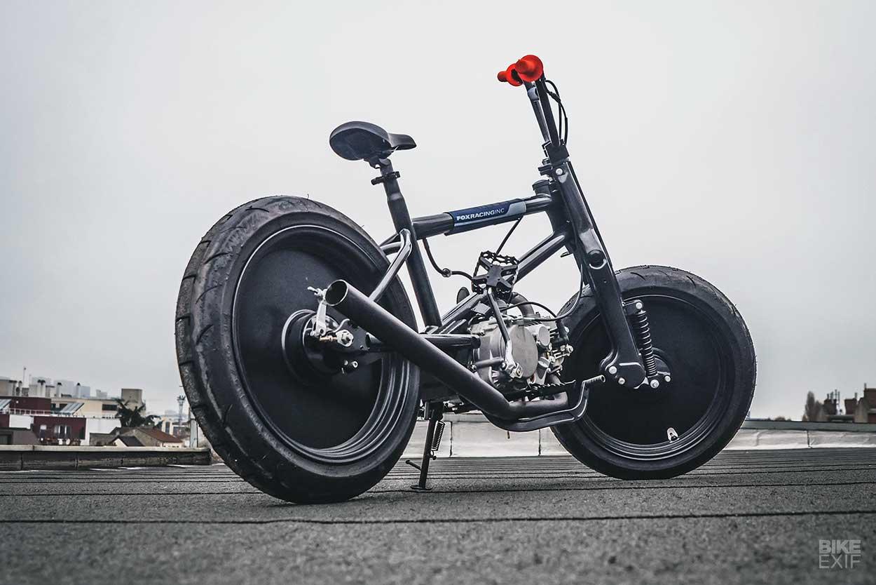 Sepeda BMX Adopsi Mesin Honda Cub ala Tom Dun