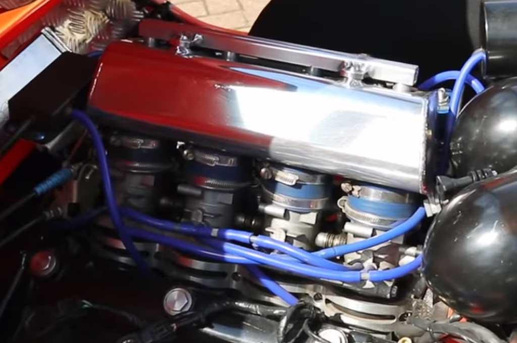Kapsul Roda Tiga Bond Bug Ini, Pakai 'Jantung' Suzuki Hayabusa