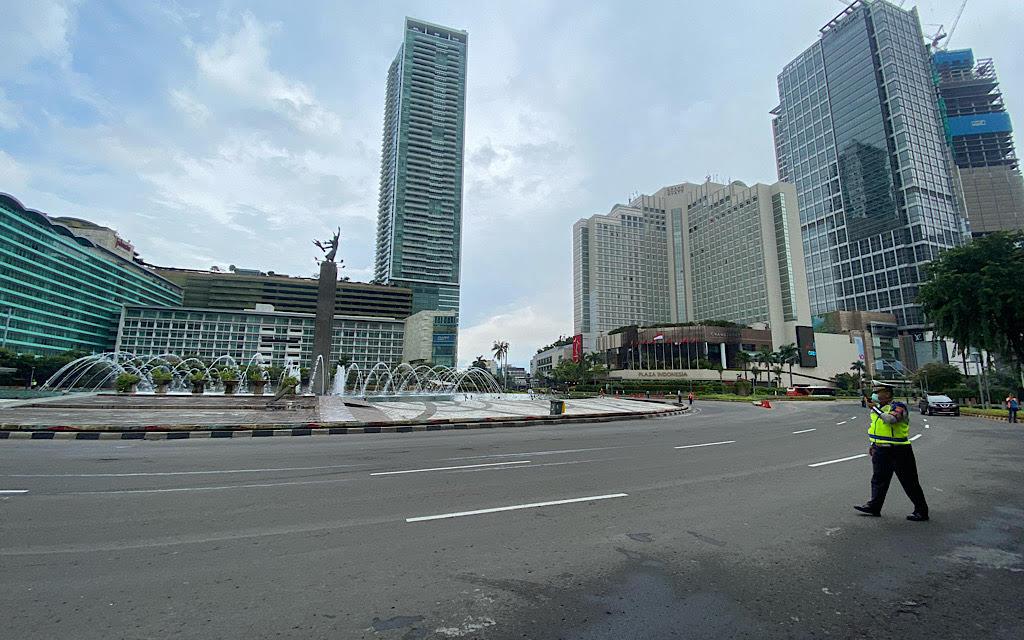 Kondisi Pusat Ibu Kota Jelang Desinfeksi