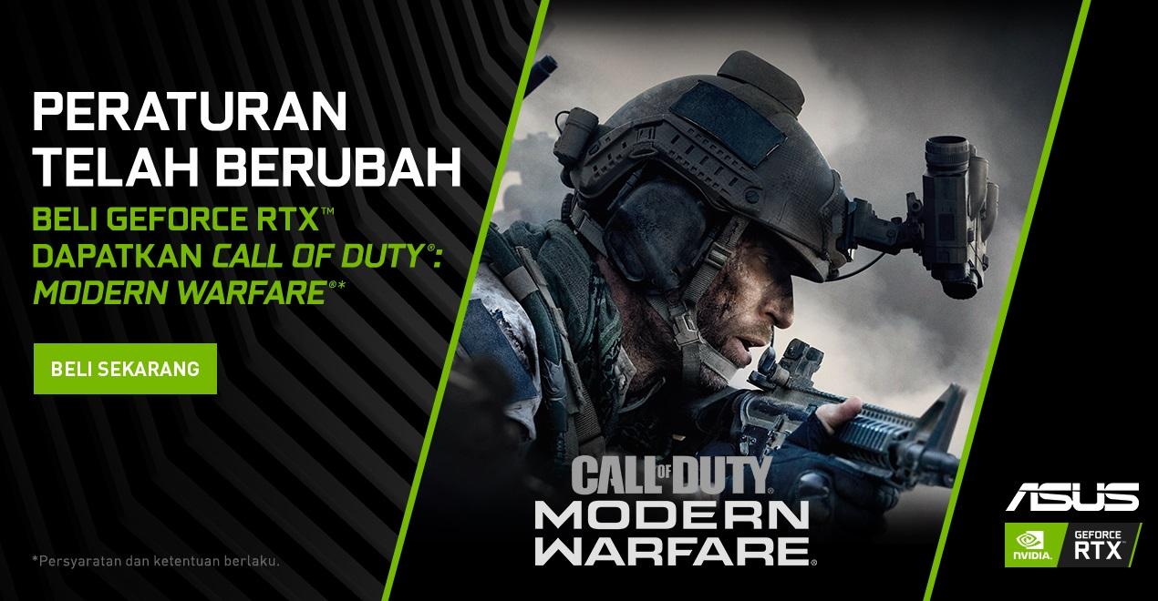 ASUS ROG Strix Scar III Bidik Gamer FPS via Paket COD: Modern Warfare