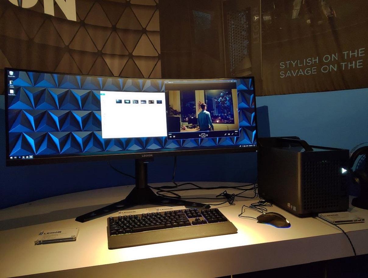 Lenovo Legion Punya Monitor Lengkung 43 Inci