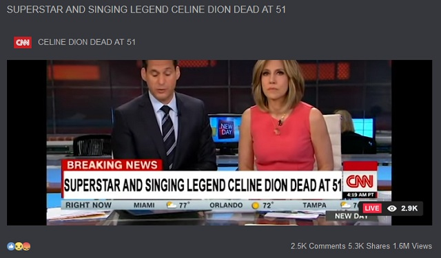 Artis Celine Dion Meninggal dalam Kecelakaan Pesawat? Ini Faktanya