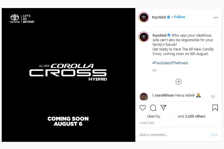 Toyota Boyong Corolla Cross Hybrid di Indonesia
