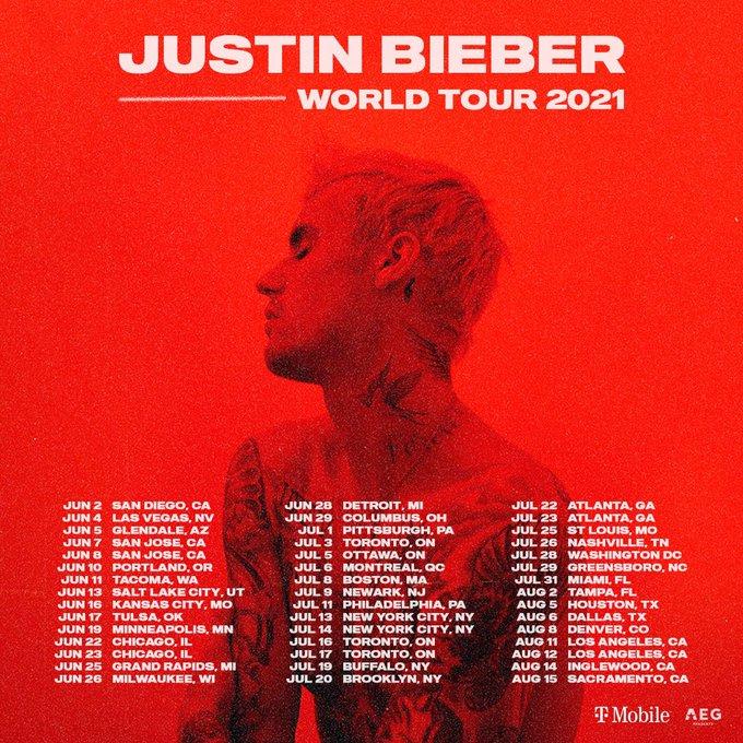 Jadwal Baru World Tour 2021 Justin Bieber