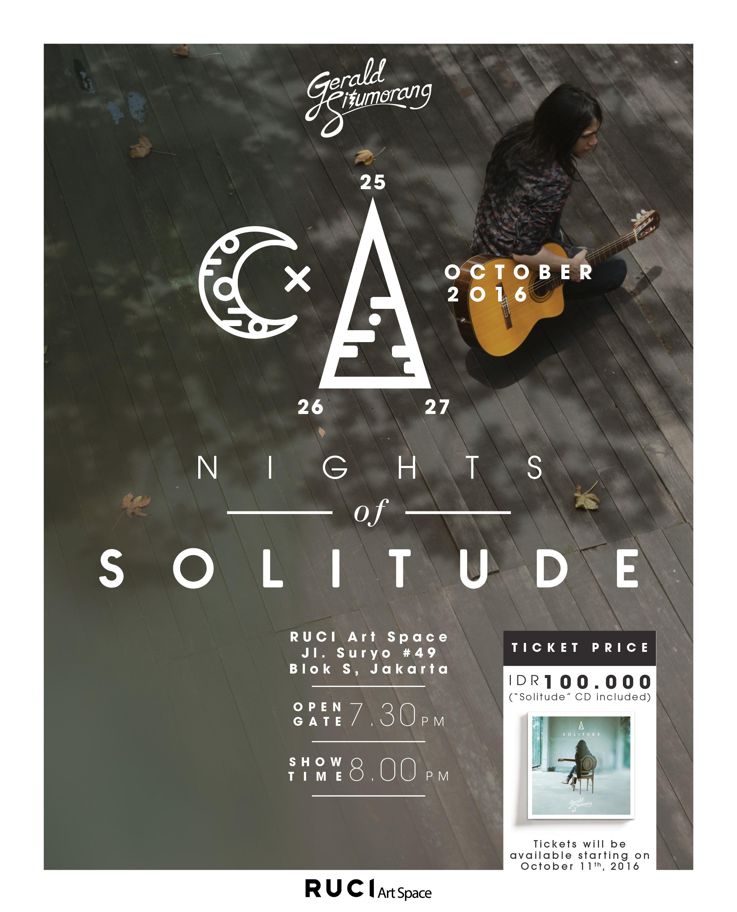 Rayakan Perilisan Album Solitude, Gerald Situmorang Gelar Konser