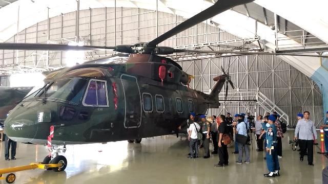 KPK Periksa <i>Body</i> dan Mesin Helikopter AgustaWestland-101