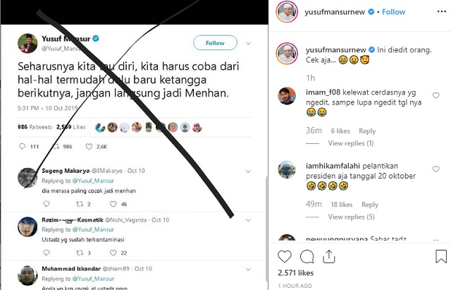 [Cek Fakta] Ustaz Yusuf Mansur Sarankan Prabowo Jadi Ketua RT Dulu? Ini Faktanya