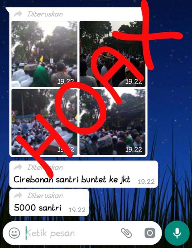 Informasi 5.000 Santri Cirebon Aksi ke Jakarta Hoaks