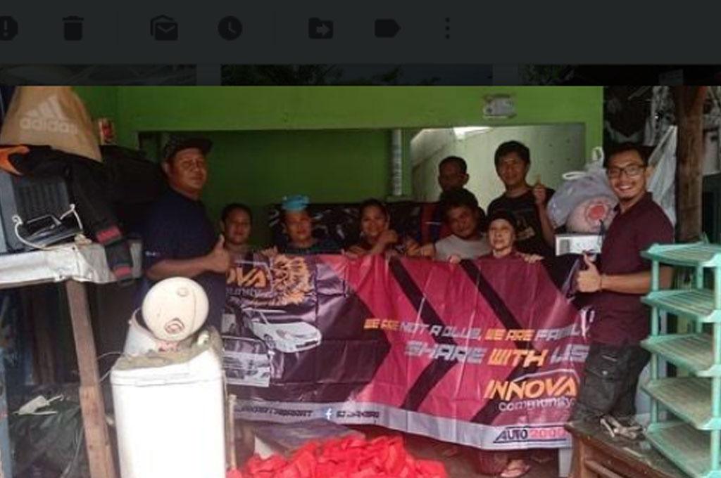 Innova Community Bersinergi Gelar Aksi Peduli Banjir