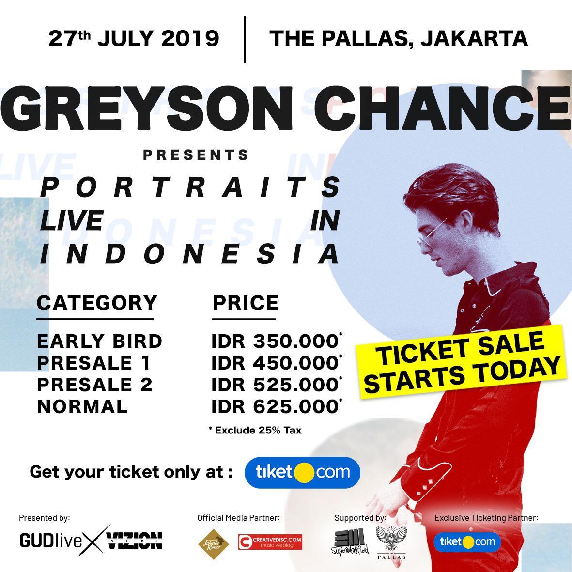Greyson Chance Gelar Konser di Indonesia Juli 2019