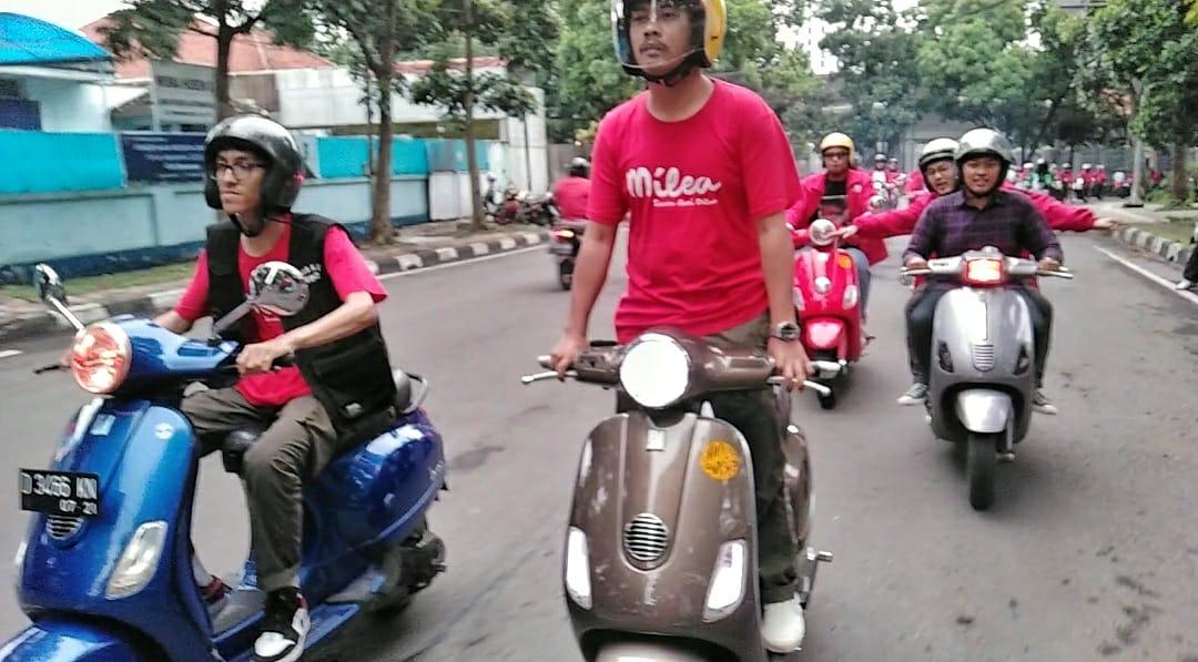 Milea: Suara dari Dilan Konvoi Keliling Bandung