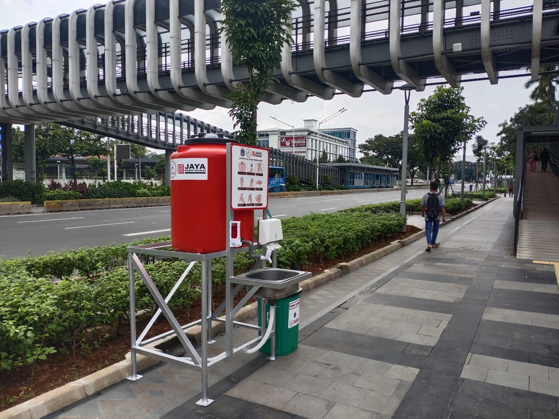 Wastafel Portabel Disebar di Jakarta Pusat