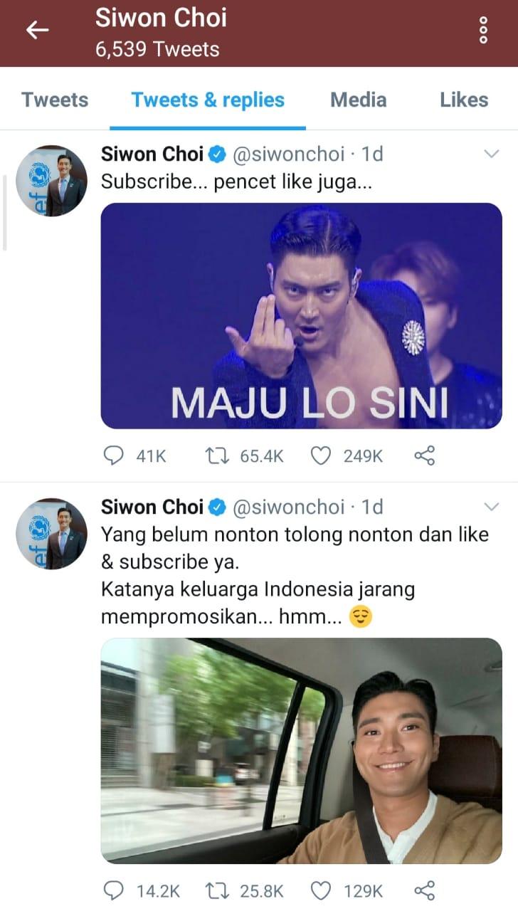 Twitter Siwon Choi Diduga Dipegang Admin asal Indonesia