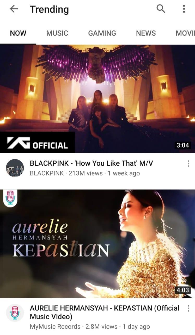 Lagu Baru Aurel Hermansyah Trending di YouTube Buntuti Blackpink