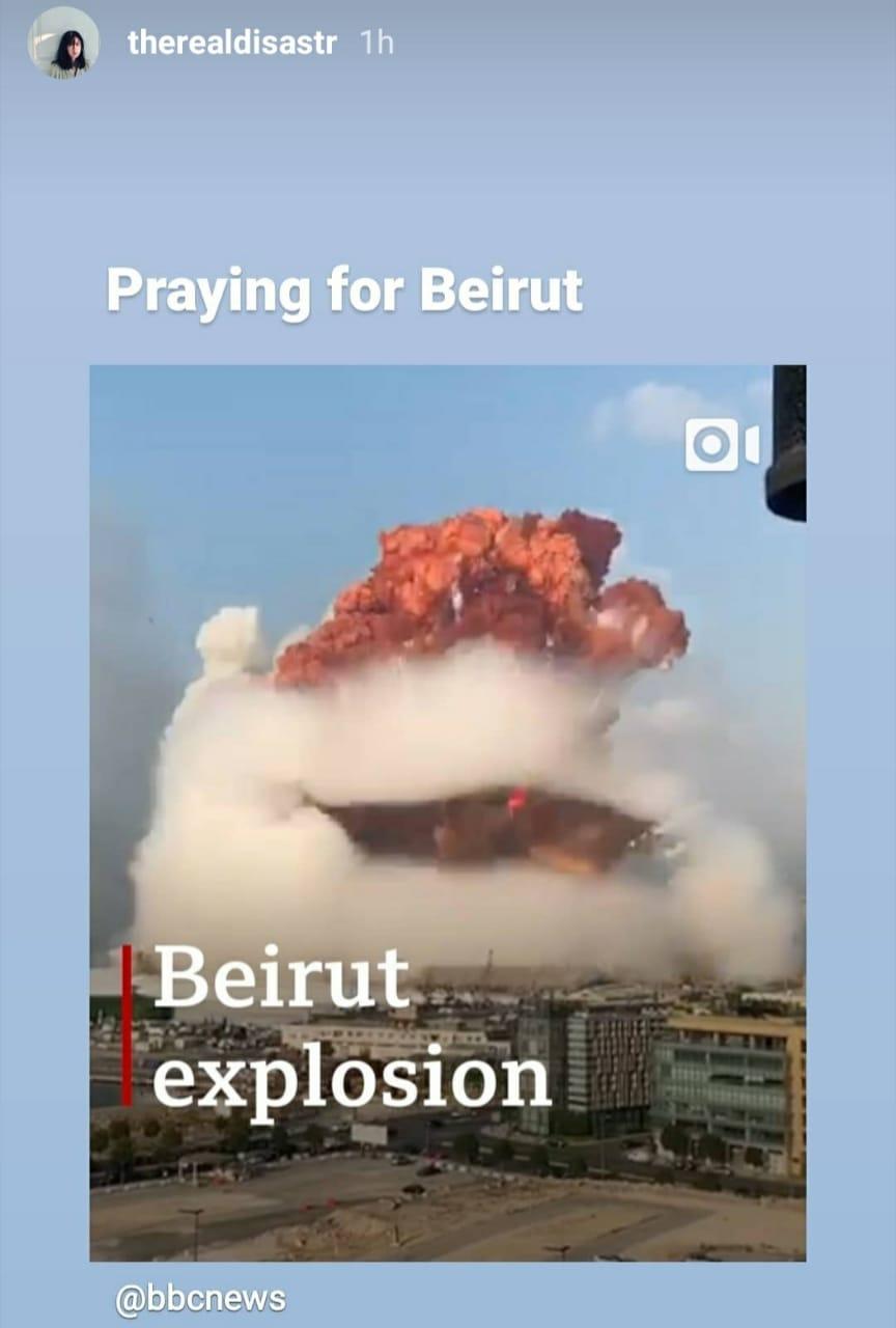 Reaksi Selebritas Tanah Air dan Luar Negeri terhadap Ledakan di Beirut